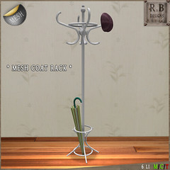 rnb mesh coat rack white