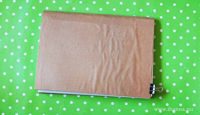 Brown paper Glue Book handmade