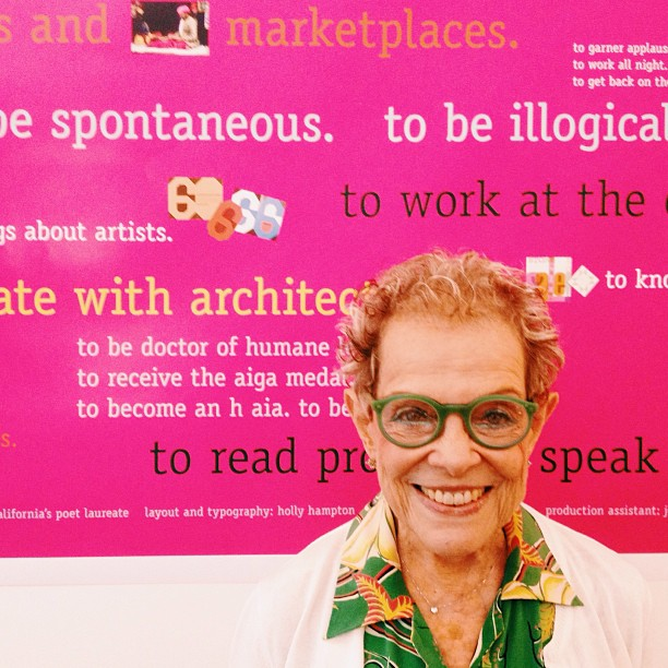 Such an inspirational lunch with a design icon (and my personal style hero), the great Deborah Sussman.