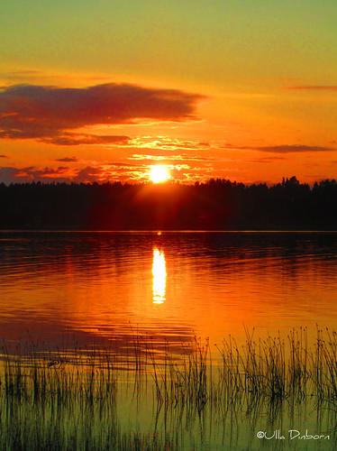 sunset solnedgång skellefteå boviken juninatt