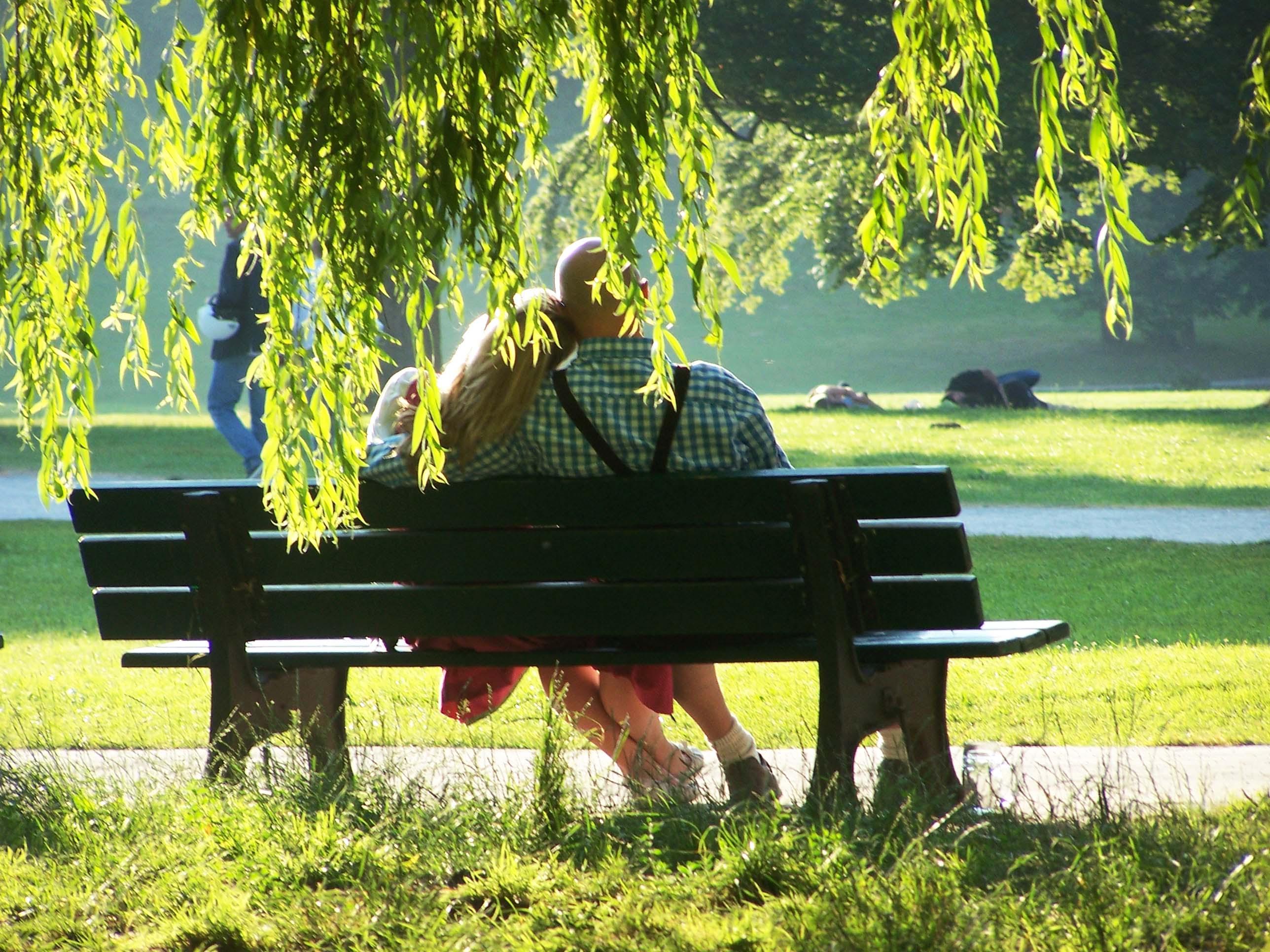 Englischer Garten München, Eisbach, Sonntagfrüh 7 Uhr