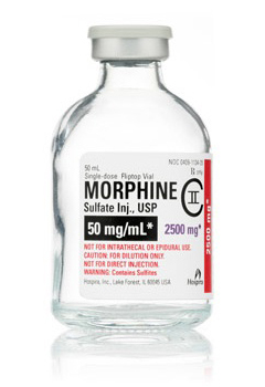 morphine iv 50mg 50ml vial Hospira