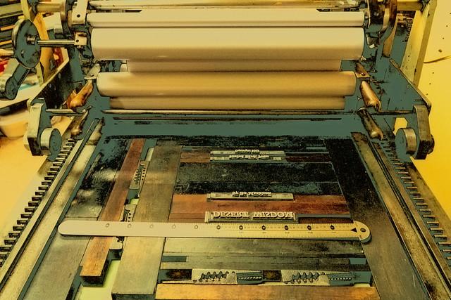 Title Page on Letterpress