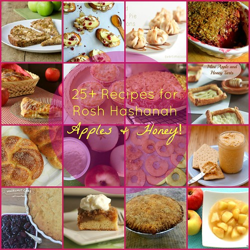 25+ Rosh Hashanah Recipes with Apples and Honey via LittleFerraroKitchen.com