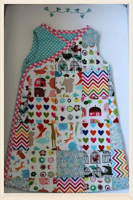 patchwork sleeping sack