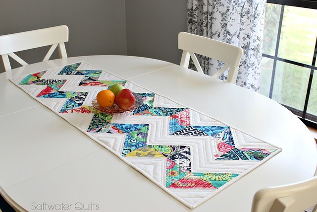 Quilted Chevron Table Runner