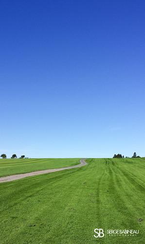 wood blue sky green grass sport golf iron pin path flag course cart tee par bogey memramcook