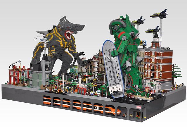 LEGO Kaiju attack