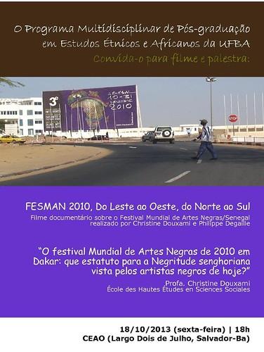 Convite: Filme e Palestra FESMAN by Biblioteca Abdias Nascimento