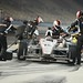 Will Power and Team Penske make a pit stop during the late stages of the MAVTV 500 at Auto Club Speedway by IndyCar Series