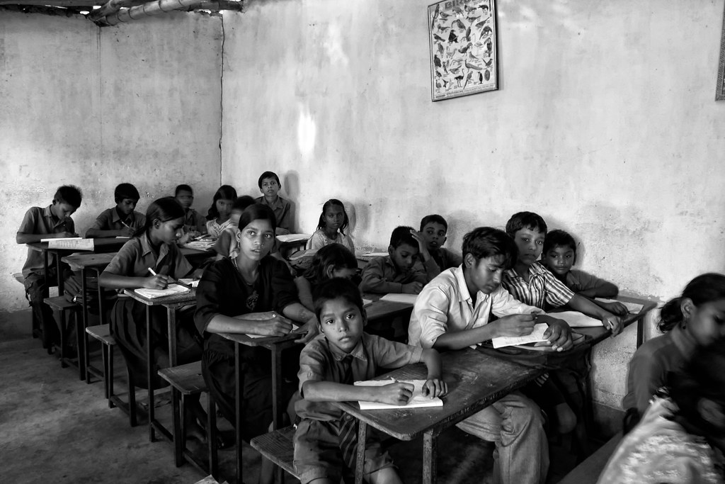Students Study Hard At A Charity School In Bodhgaya, India