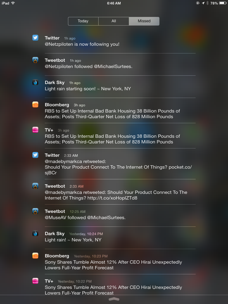Notifications Expanded iOS