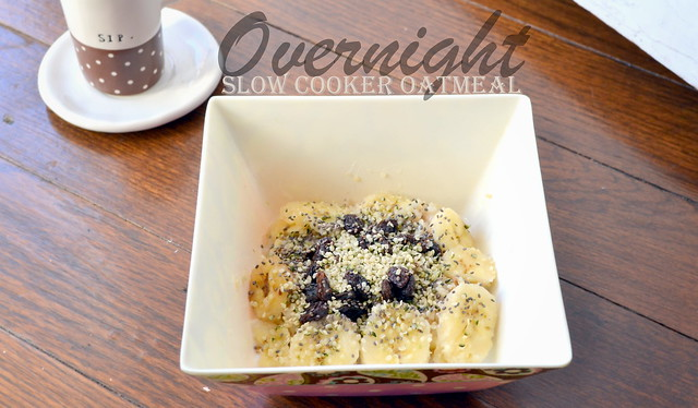 hot overnight slow cooker oatmeal