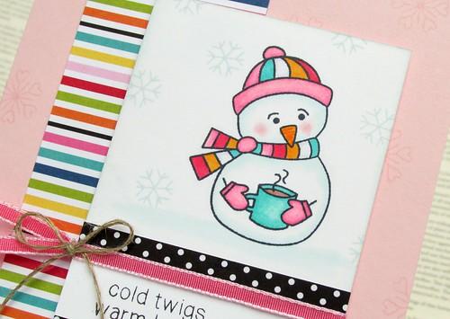 Cocoa Snowman Card 2