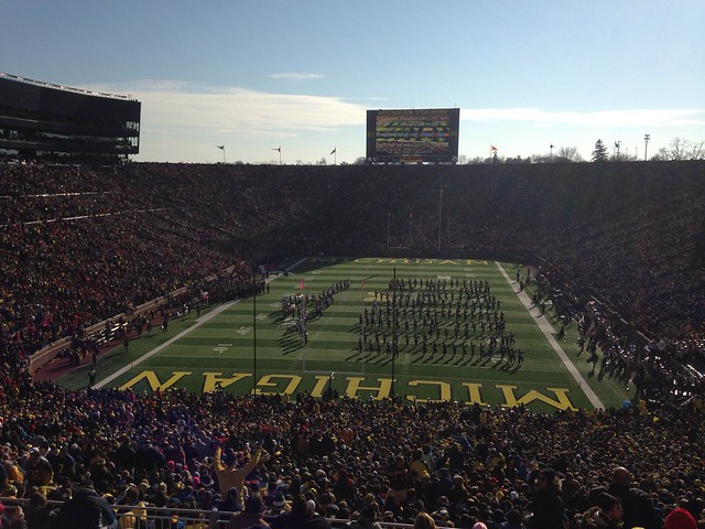 Ohio State - Michigan:  To recap the OSU band honored Lincoln and Gettysburg.  Michigan honored Miss America-