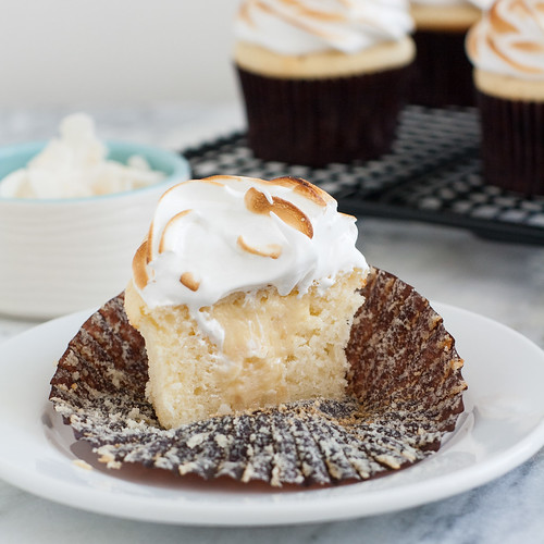 Coconut-Cream Meringue Cupcakes | Tracey's Culinary Adventures