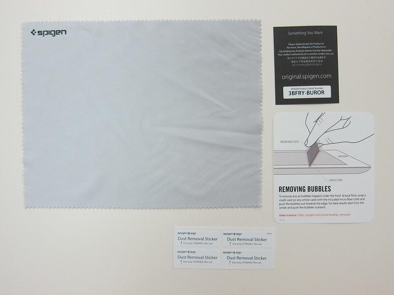 Spigen SGP Ultra Crystal Screen Protector - Packaging Contents