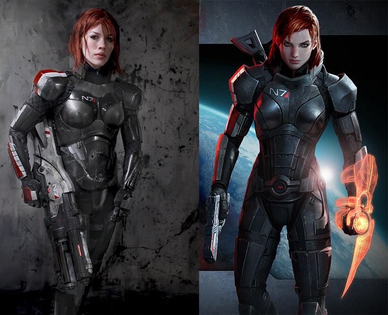 N7 Armor Mass Effect Andromeda: FemShep N7 Armor, Valkyrie Rifle, + Omniblade (Mass Effect 3