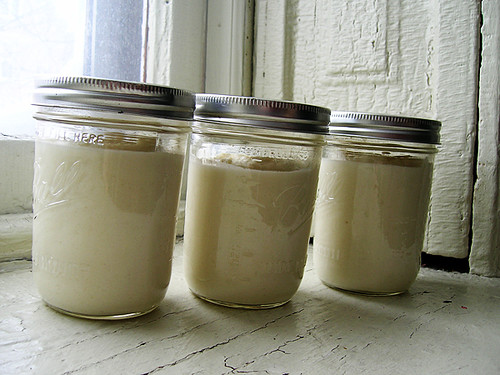 cauliflower puree jars