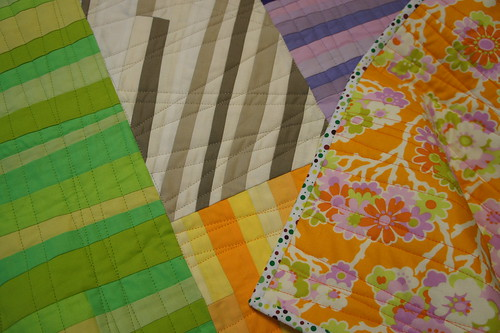 Close up Quilting and Binding