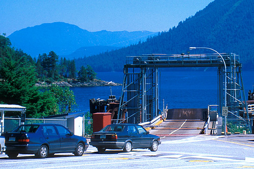 Saltery Bay Ferry Terminal, Malaspina Peninsula, Sunshine Coast, British Columbia, Canada
