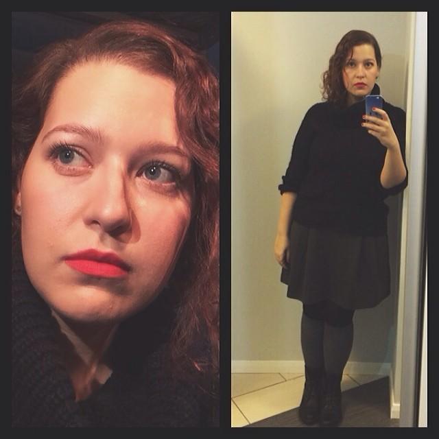 Red lips. We need more of them. #redlip #mac #ladydanger #macladydanger #aotd #fotd #me #selfshop #selfie #makeup #me #red #black