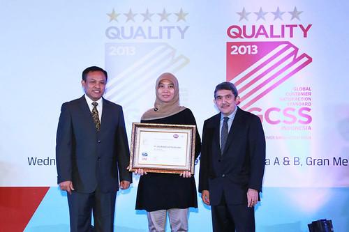 Global Customer Satisfaction Standard Award 2013