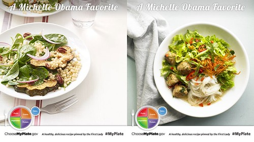 In celebration of the 4th Anniversary of Let's Move!, Michelle Obama shared more of her favorite MyPlate-inspired recipes on the MyPlate Recipes Pinterest page.