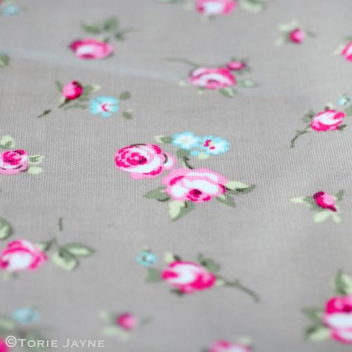 Rosebud oilcloth
