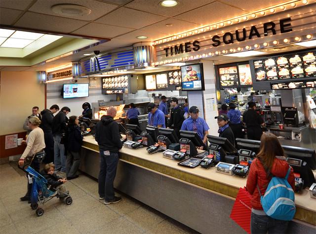 Mcdonalds de Times Square entrada
