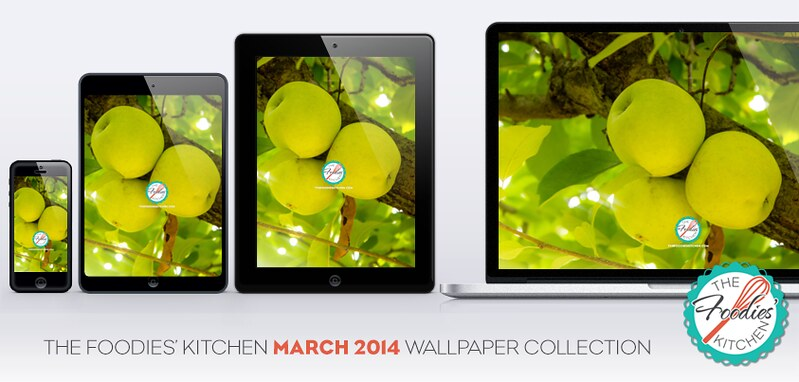 Foodies Freebie: March 2014 Wallpaper Collection