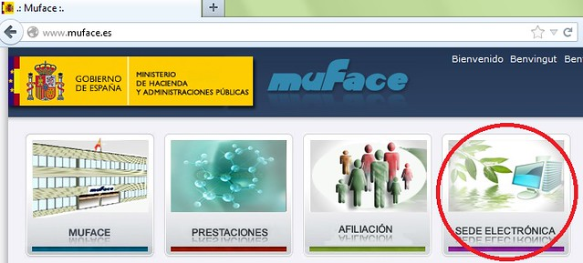Acceso a Sede Electrónica de Muface