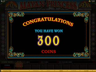 Mayan Princess Bonus Game