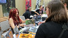 Mr Dirt posted a photo:	Jen Page signing the ECCC Monsters & Dames Artbook at the Emerald City Comicon
