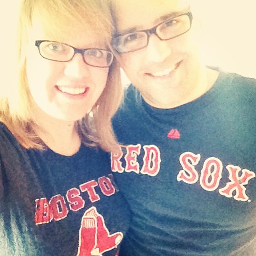 It's Opening Day at Fenway: an Official Holiday in this house! We have dressed for it, got Dunkin, and made totchos.   I celebrate it as Opening Day of Sewing Season. Baseball is the perfect thing to sew to- no need (for me) to hear it & I'm not missing ""