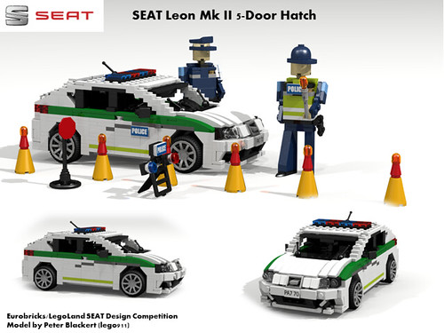 SEAT Leon MkII -  PQ35 (Eurobricks Miniland Car Design Competition)