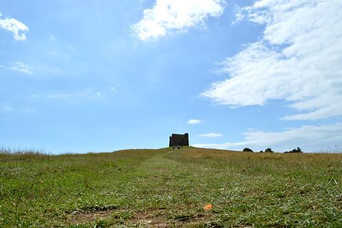 Original castle on hill
