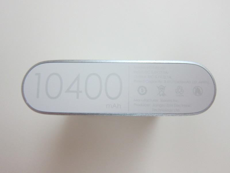 Xiaomi Mi 10,400mAh Power Bank - Bottom
