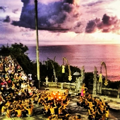 Kecak Dance at Uluwatu, Bali. It depicts a battle from the epic, Ramayana.