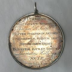 Halloran Prize Medal reverse