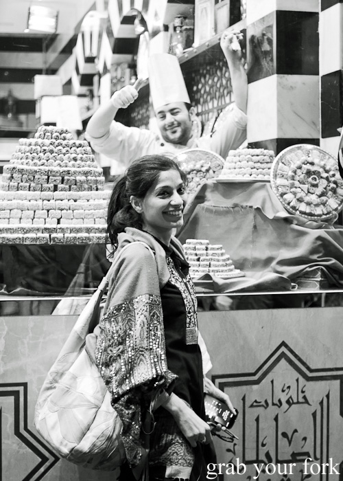 Arva Ahmed during a Frying Pan Adventures food tour in Dubai