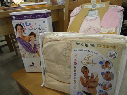 當日提供三款商品供試用:Cuddledry 洗澡圍裙、theBabaSling 嬰兒背巾、grobag 防踢睡袋@Bloom & Grow 寵愛媽咪母親節聚會
