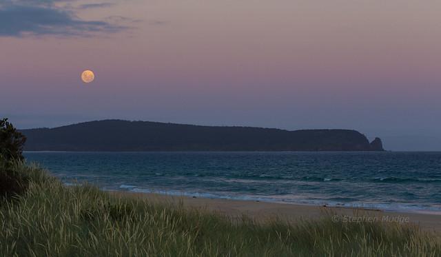 Moonrise over Cape Queen Elizabeth