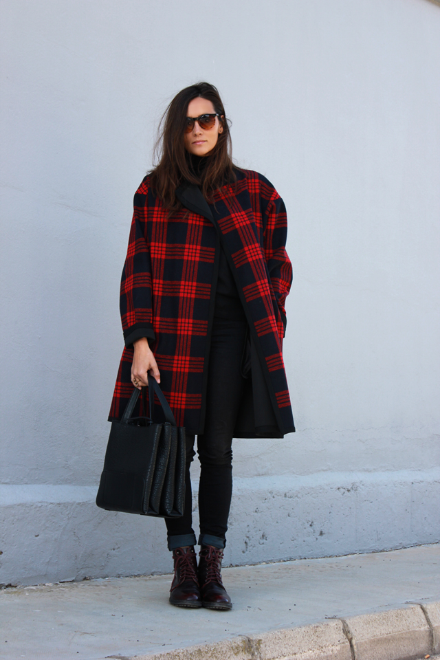 plaid coat coohuco 8