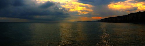 seascape reflection clouds sunrise cliffs mornings thousand fz200 kerkaya