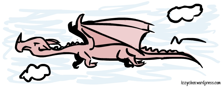 red dragon he's flyin thru the sky