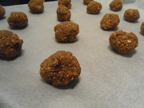 Oatmeal cookies before oven
