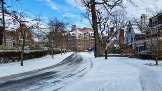 Tennis Place After A Light Snow