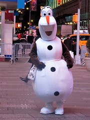 Olaf costume, After the NYC snow storm