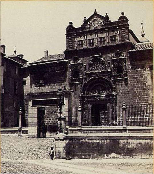 Hospital de Santa Cruz en 1863. Fotografía de Ernest Lamy